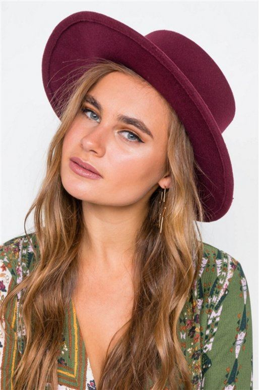 Chapeau Fedora bordeaux