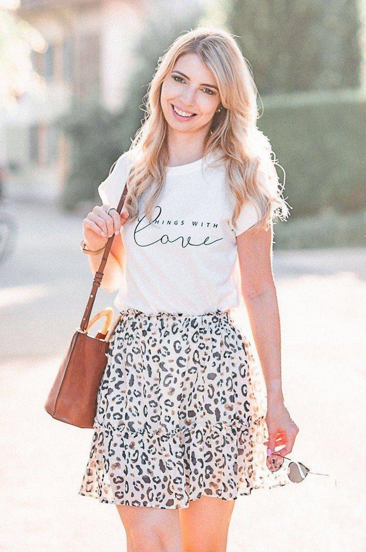 photos officielles 86f23 ef23f Mini jupe imprimé léopard