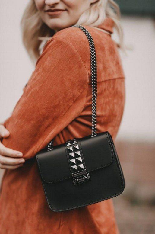Crossbody bag noir en cuir