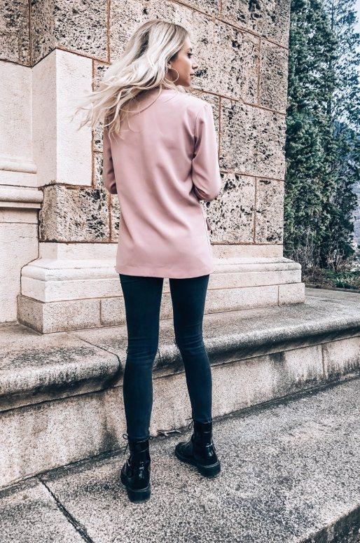 Long blazer rose poudré