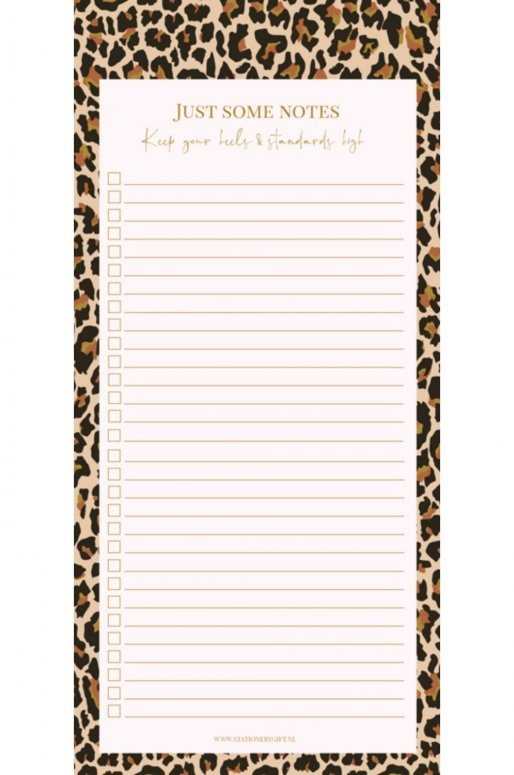 Carnet de notes léopard