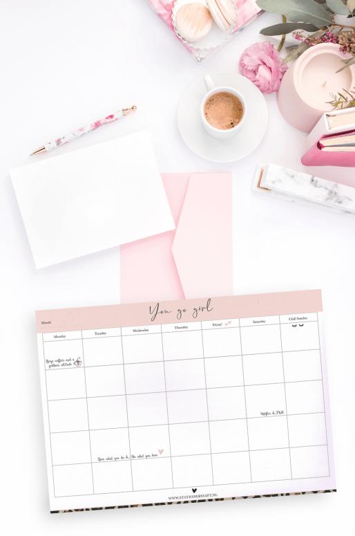 Planificateur mensuel