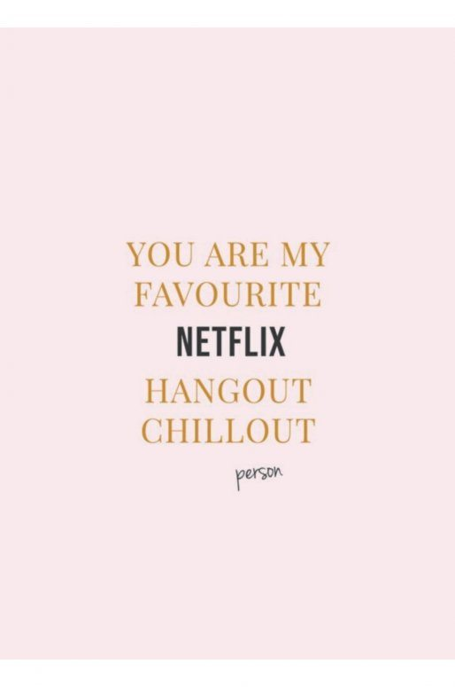 "Carte Postale ""Netflix & Chill"""