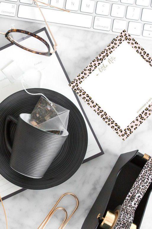 Petites notes détachables, imprimé léopard rose