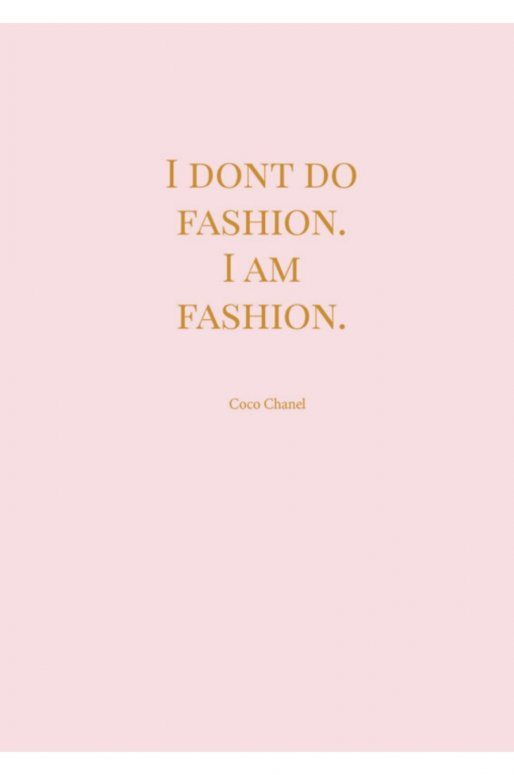 "Carte Postale ""Chanel"""