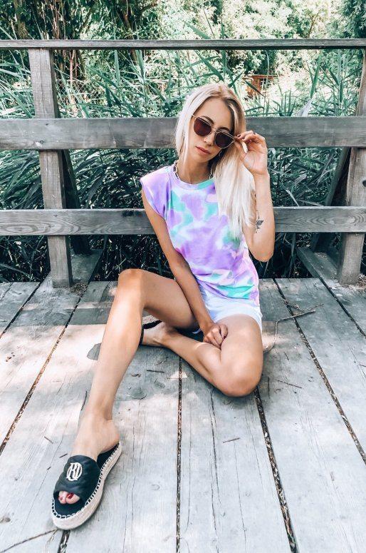 T-shirt imprimé Tie-Dye