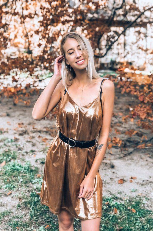 Robe de soirée dorée