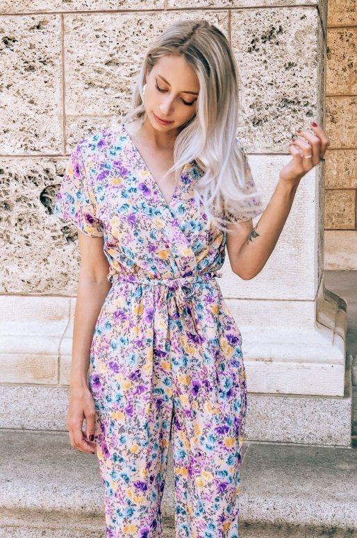 Combinaison pantalon imprimé fleuri