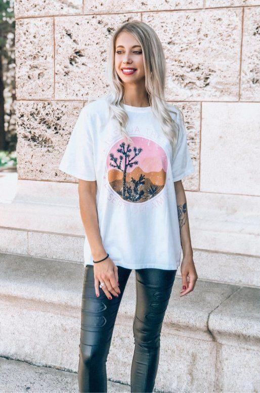 T-shirt blanc Joshua Tree