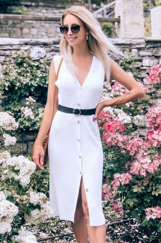 Longue robe cardigan boutonnée sur le devant