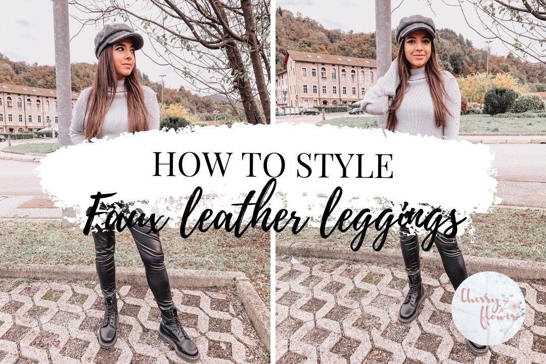 Comment styliser le legging en simili cuir ?